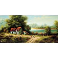 Keretezett művészi nyomat 33 x 70 cm